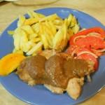 Мясо, тушеное со сливами
