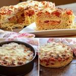 Спагетти пирог