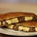 Тосты с бананом и шоколадом