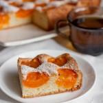 Бисквитный абрикосовый пирог3