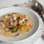 Куриный суп с цуккини и шампиньонами3