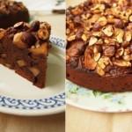 Шоколадно-яблочный пирог с фундуком