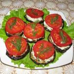 Печеные баклажаны с плавленным сырком (1)