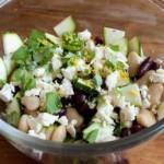 Фасолевый салат с цуккини и фетой2