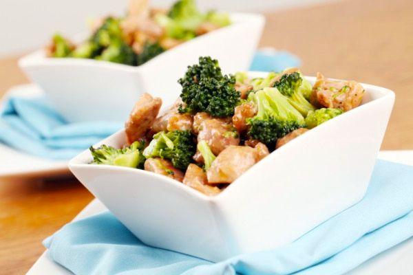 Жареная курица с брокколи по китайски