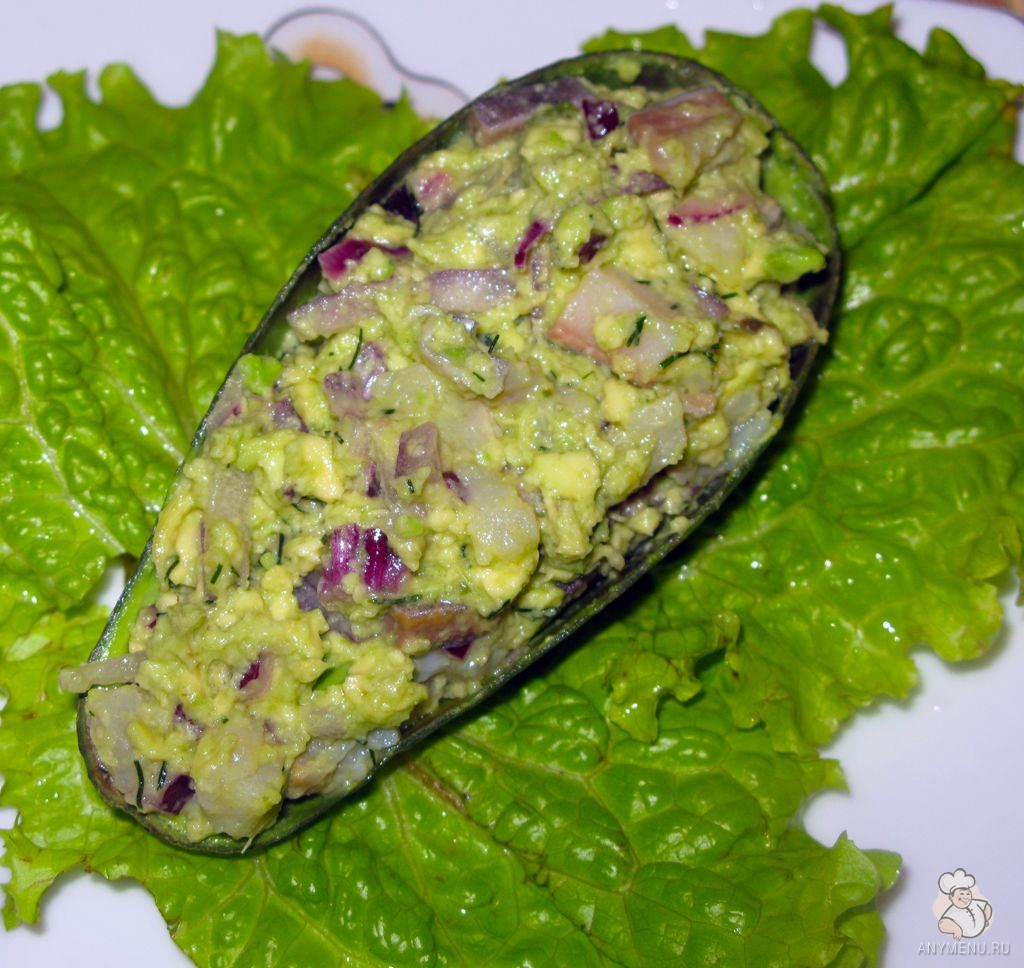 Салат из сельди и авокадо (1)