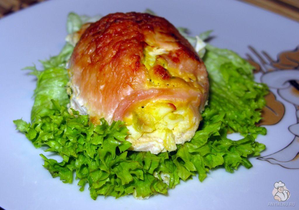 Куриная грудка, фаршированная яйцами и зеленью (8)