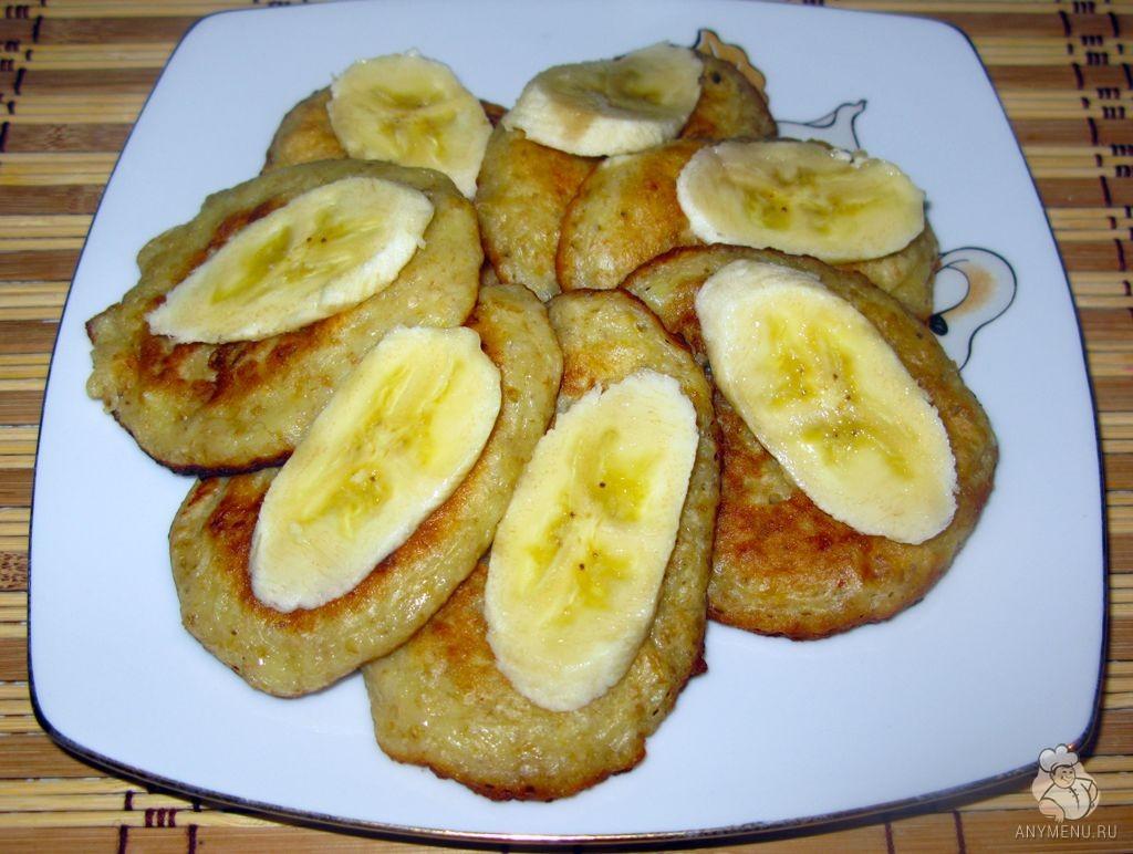 Овсяные оладьи с бананами  (5)