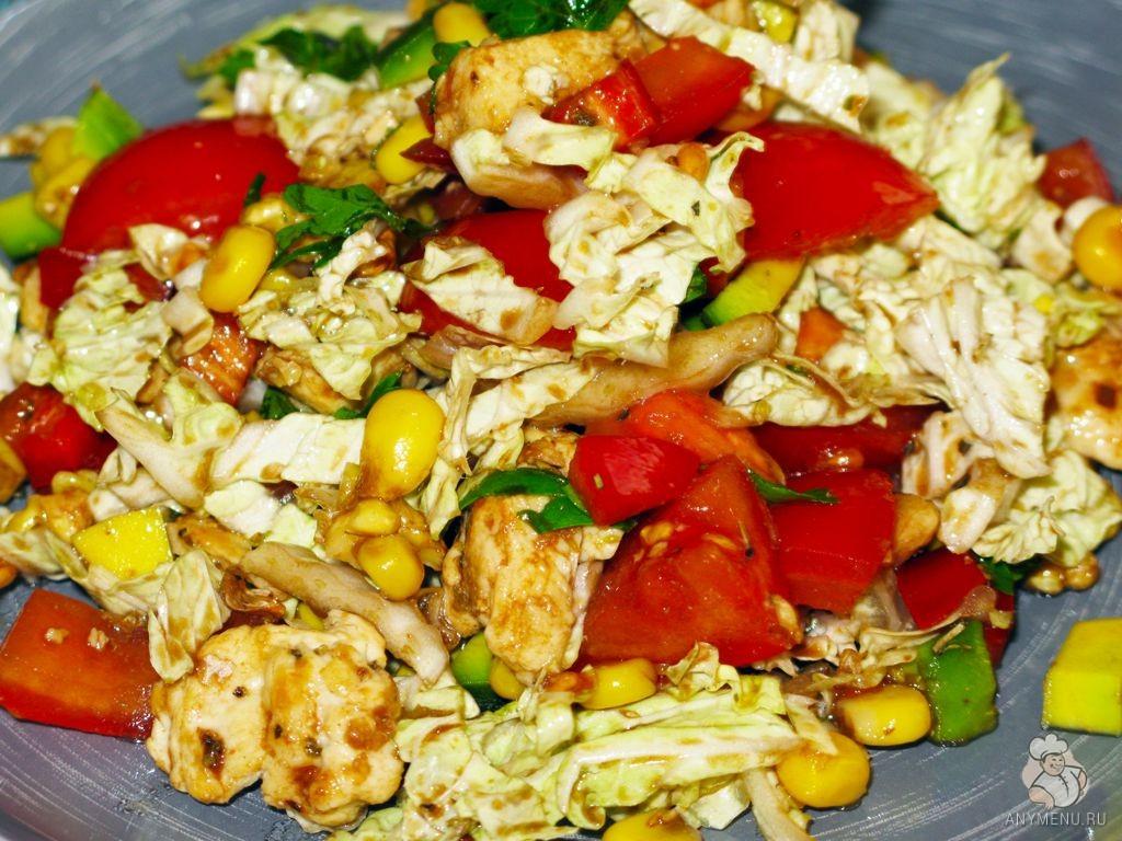 Салат с лимонной курицей и авокадо (10)