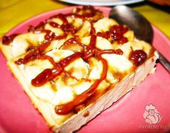 Творожно банановый десерт