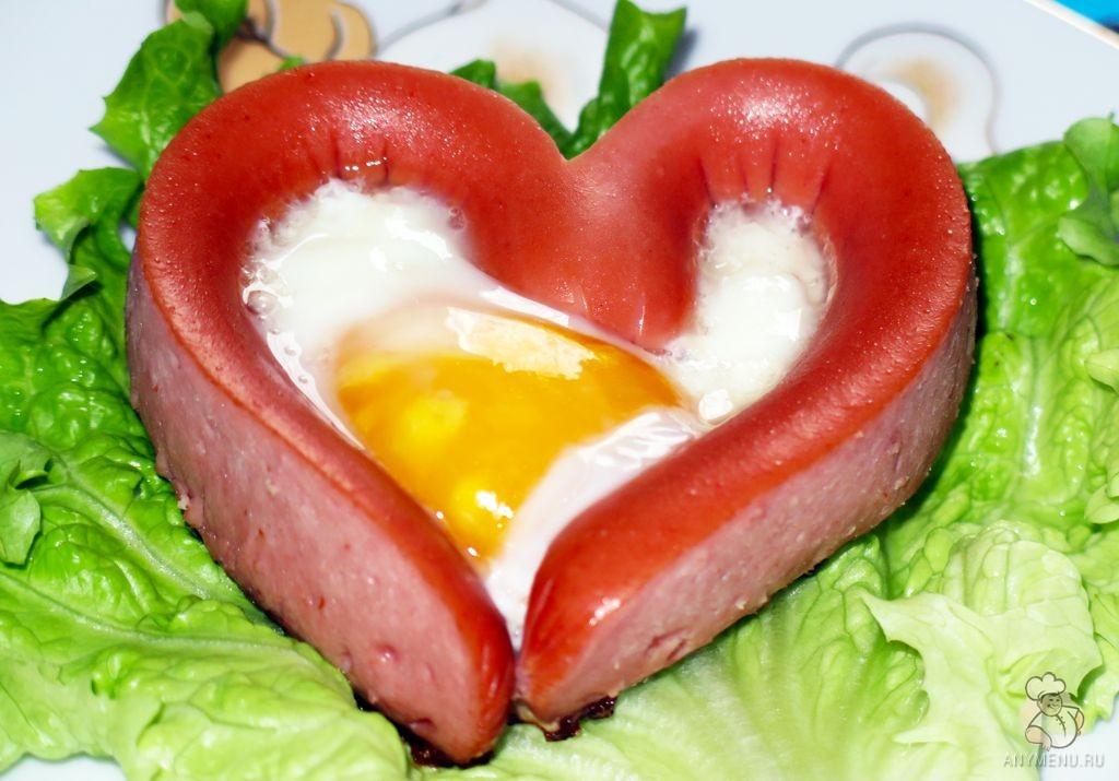 Яичница Сердце к завтраку (2)