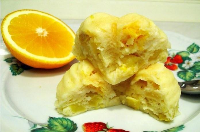 Запеканка творожная с яблоками и апельсинами в микроволновке